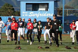 Hawaii Baseball Academy players on field